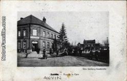 Cartes postales photos rue de la gare anvin 62134 18